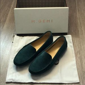 M. Gemi Felize Suede Drivers in Pine size 7.5(US)